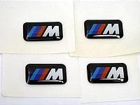 BMW ///M sport wheel Emblem badge SET sticker decal